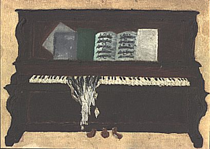 Painting of piano
